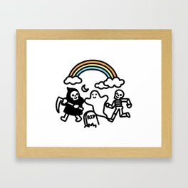 Spooky Pals Framed Art Print