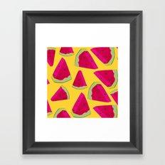 watermelon love Framed Art Print