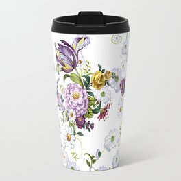 Purple Flowers V Travel Mug