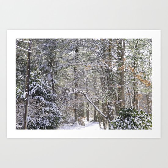 snowy road  Art Print