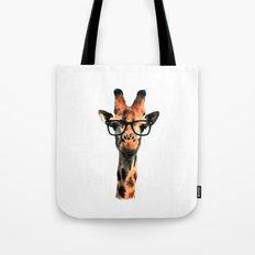Hipster Giraffe Tote Bag