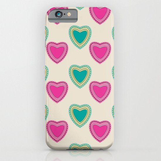 Doodle corazon rosa iPhone & iPod Case