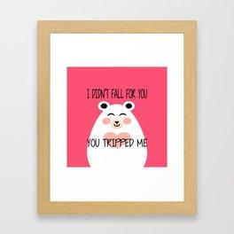 I Am Beary Romantic Framed Art Print