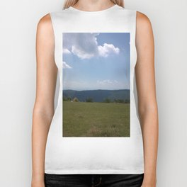 Meadow and mountains Biker Tank