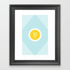 When In Doubt, Keep It Simple Framed Art Print