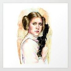 Princess and General Art Print