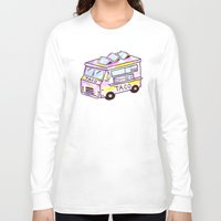 truck Long Sleeve T-shirts featuring Taco Truck by Sabrina May
