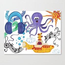 Submarine Tunes Canvas Print