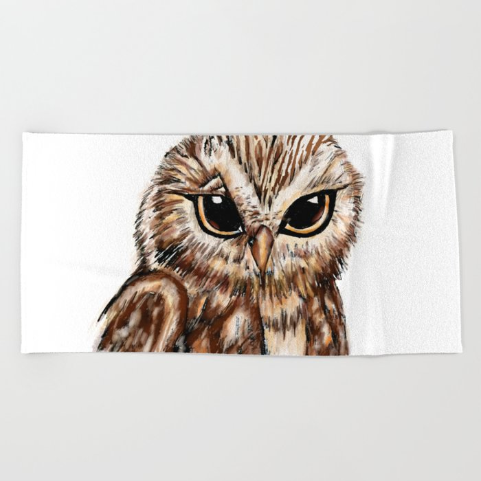 Wise 'Ole Owl Beach Towel