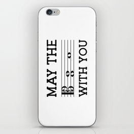 May the 4th be with you (light colors/alto clef) iPhone Skin