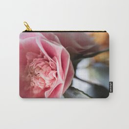 Pink Camellia Bloom Carry-All Pouch