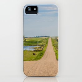 Walking on a Country Road, North Dakota 2 iPhone Case