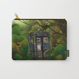 Abandoned Tardis doctor who in deep jungle iPhone 4 4s 5 5s 5c, ipod, ipad, pillow case and tshirt Carry-All Pouch