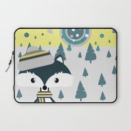 Cute fox ready for winter Laptop Sleeve