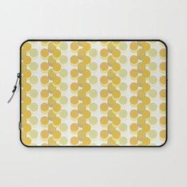 Refreshing Yellow Vintage 70s Geometric Pattern Circles Laptop Sleeve