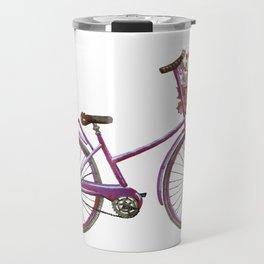 Watercolor bicycle print Travel Mug