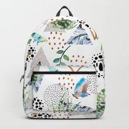 Geometric with cactus and butterflies Backpack