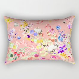 Soft bunnies pink Rectangular Pillow