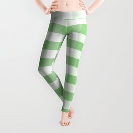 Color of the Year Large Greenery and White Gingham Check Plaid Leggings