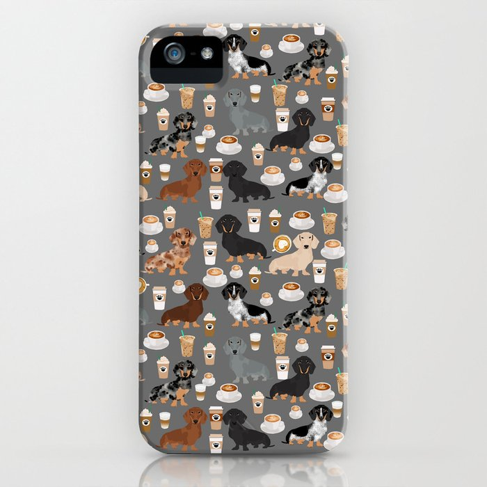 dachshund coffee lover must have pet gifts dachsie doxie dog weener dog iphone case