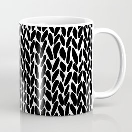 Hand Knitted Black S Coffee Mug
