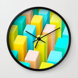 Color Blocking Pastels Wall Clock
