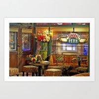 central perk Art Prints featuring Central Perk by voxavila