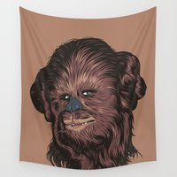 chewbacca Wall Tapestries featuring Chewie by Roland Banrevi