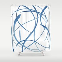 koi fish Shower Curtains featuring Koi Fish by Dena Carter