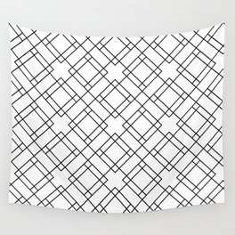 Simply Mod Diamond Black and White Wall Tapestry