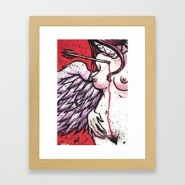 Navel Gazing Framed Art Print