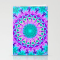 kaleidoscope Stationery Cards featuring Kaleidoscope by Sylvia Cook Photography