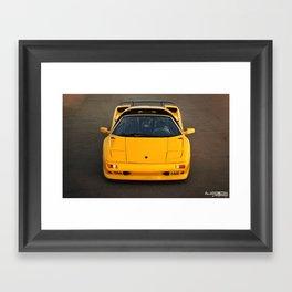Lamborghini Diablo VT Roadster (Front) Framed Art Print