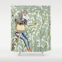 Harold the unicorn Shower Curtain