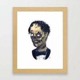 Tux Zombie Framed Art Print