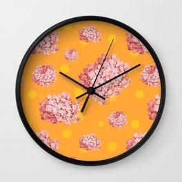 hydrangea polka Wall Clock