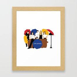 Friends Umbrella Framed Art Print