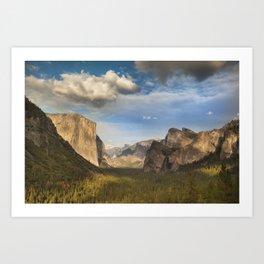 Tunnel View, Yosemite at Sunset Art Print
