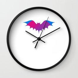 Halloween bat silhouette bats boo Wall Clock