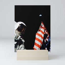 495. A Scientist on the Moon Mini Art Print