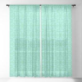 Nordic Cross - Mid Century Modern Geometric Light Green Sheer Curtain