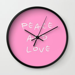 Peace and love 3 Wall Clock