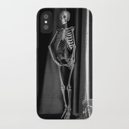 The Skeleton by the Printer iPhone Case