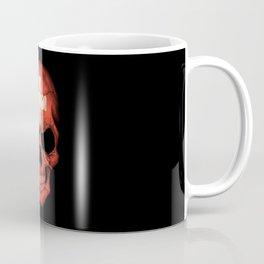 Dark Skull with Flag of Switzerland Coffee Mug