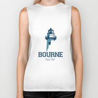 cape cod Biker Tanks featuring Bourne Cape Cod by America Roadside