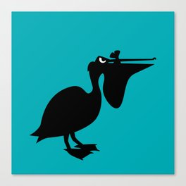 Angry Animals: Pelican Canvas Print