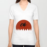 witch V-neck T-shirts featuring Witch by Cs025