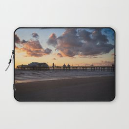 Sunset At Blackpool North Pier Laptop Sleeve