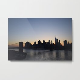 Manhattan From The Manhattan Bridge Metal Print