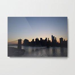 Manhattan From The Manhattan Bridge Metal Print